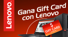 Promoción Gift Card Lenovo Notebook y PCs